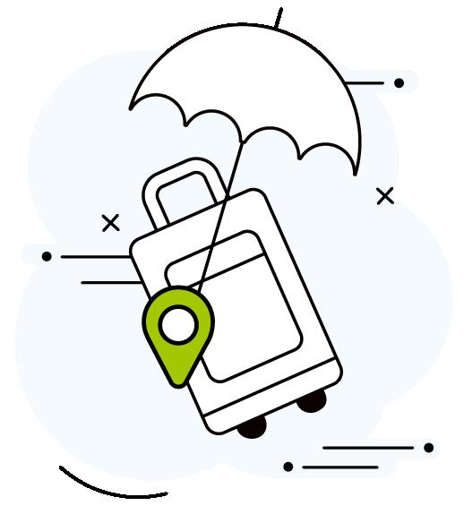 icone voyage avec une valise