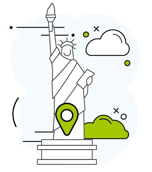 icone New-York avec la statue de la liberté